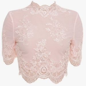 House of CB Saccala Pink Top Retail $157